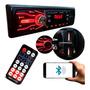 Som Pra Carro Aparelho Rádio Automotivo Bluetooth Bt Sd 5566