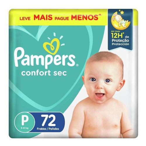 Fralda Pampers Confort Sec Super P 72 Tiras