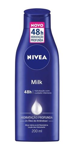 Loção Hidratante Nivea Milk Hidratação Profunda 200ml