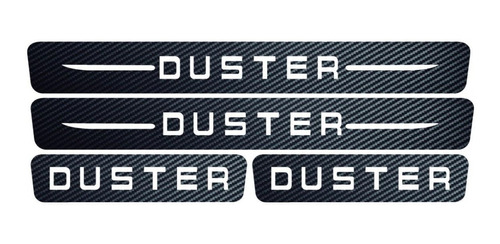 Protector Posa Pies Renault Duster Fibra De Carbón