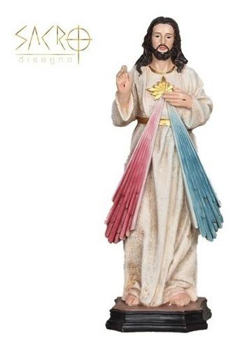 Imagem Jesus Misericordioso Resina Importado 30cm