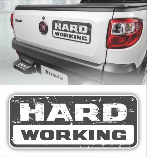 Adesivo Strada Hard Working 2018/19 Emblema Modelo Original