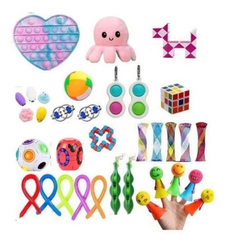 Brinquedo Sensorial Fidget Cubo Alivia O Estresse 30pcs