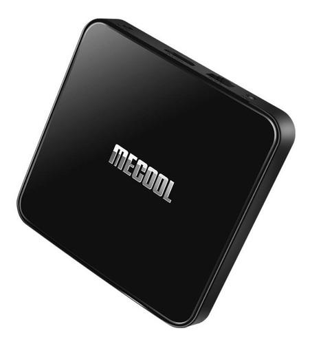 Tv Box Mecool Km3  De Voz 4k 64gb  Negro Con 4gb De Memoria Ram