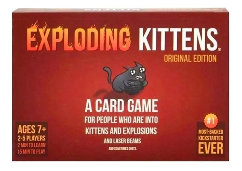 Juego De Cartas Exploding Kittens Original Exploding Kittens