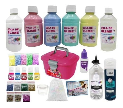 Kit  Slime Para Fazer Junto Com Seus Filhos + Corantes