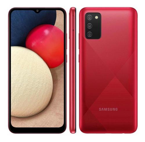 Smartphone Samsung Galaxy A02s Vermelho 32gb, Tela Infinita