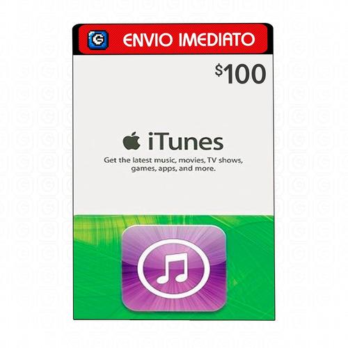 Cartão Itunes Apple Gift Card $100 Dólares Usa - Imediato
