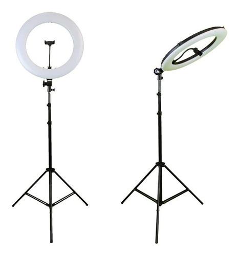Iluminador Ring Light Anel Luz 45cm 18polegadas Com Tripé 2m