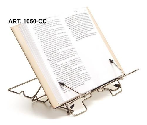 Atril De Mesa Libros Plegable Cromado 3 Posiciones Csxprt