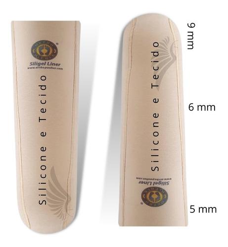 Liner Transtibial De Gel Flexivel  Com Tecido Sem Pino Glt50