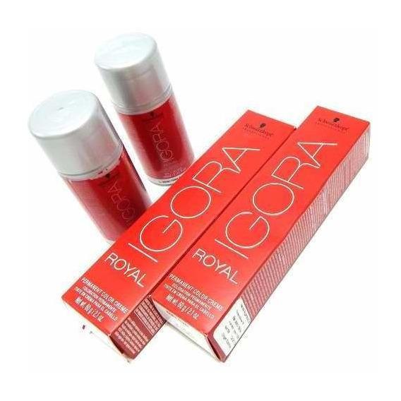 Kit X2 Tintura + Oxidante Igora Royal Coloracion Schwarzkopf