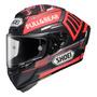 Capacete Para Moto Integral Shoei X spirit Iii Tc 1 Vermelho Marquez Black Concept Tamanho S