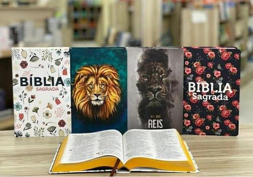 Bíblia Capas Diferentes Letra Grande Com 3 Bíblias