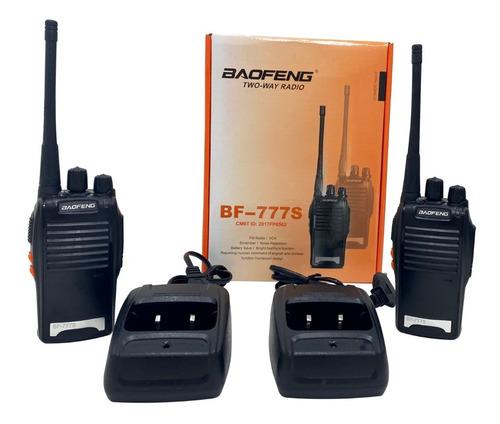 Kit 2 Radio Comunicador Walk Baofeng 777s Alcance 9km + Fon