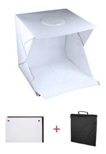 Mini Estúdio Fotográfico Luz Led 40x40cm Com Fita Led