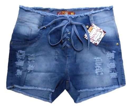 Short Jeans Plus Size Desfiado Com Lycra Roupas Femininas
