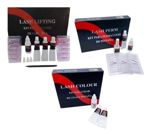 Kit 3en1 Kit Permanente De Pestañas + Lifting + Kit Tintura