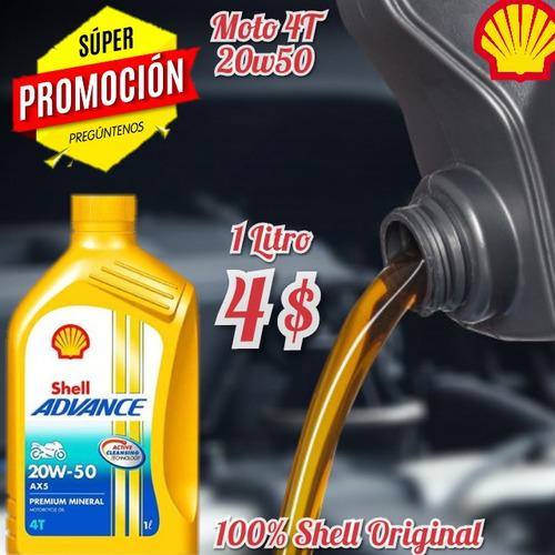 Aceite 20w50 Moto 4t Shell Oferta Tienda Fisica