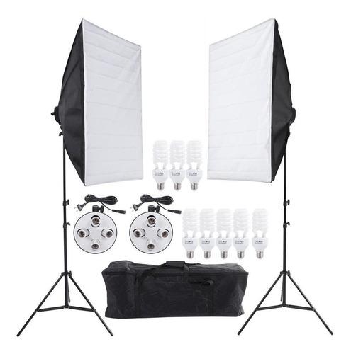 Soft box 50x70 C/ 8 Lampadas Youtuber Foto E Video C/ Nf
