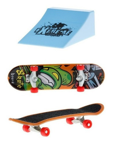 Brinquedo Fingerboard Skate De Dedo Com Rampa Radical X-tric