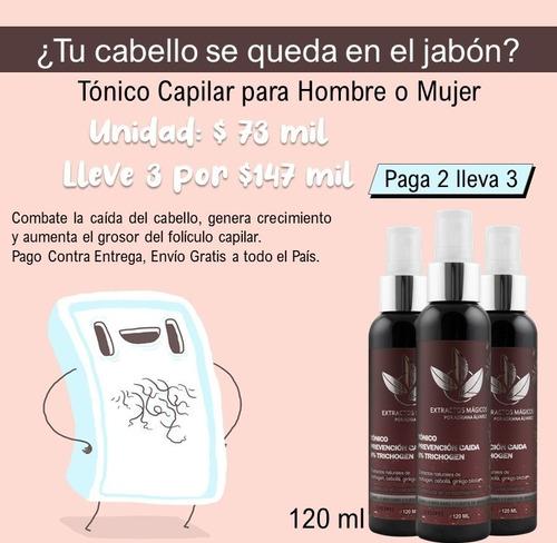 Tónico Capilar Para Mujer - Kit 3x2 - mL a $408