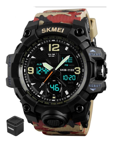 Relógio Skmei 1155 Militar Camuflado  S Shock Promoção