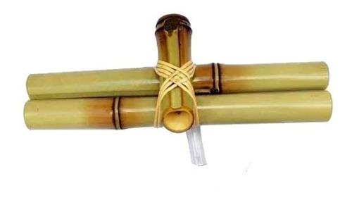 Bica De Bambu Para Fonte De Água 20cm