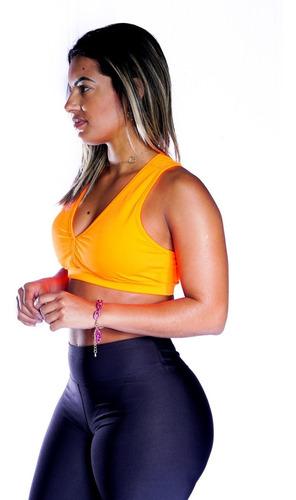 Top Fitness Academia  C/ Bojo Liso Tops Para Malhar Nadador