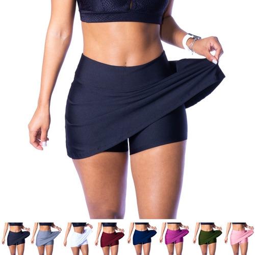 Short Saia Fitness Roupa Feminina Academia Suplex Atacado Pr