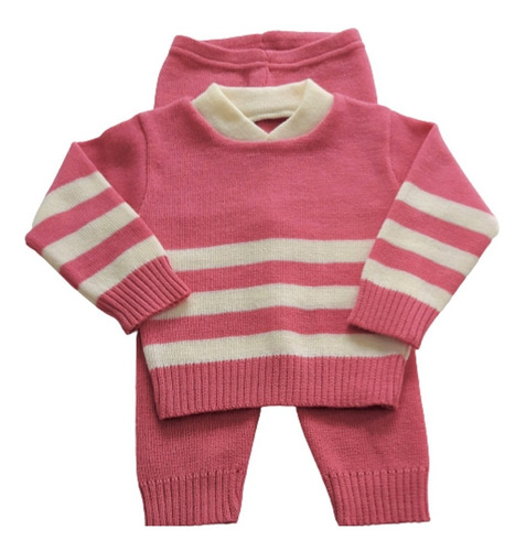 Blusa E Calça Roupa Lã Inverno Bebê Meninos  Meninas Ref.221