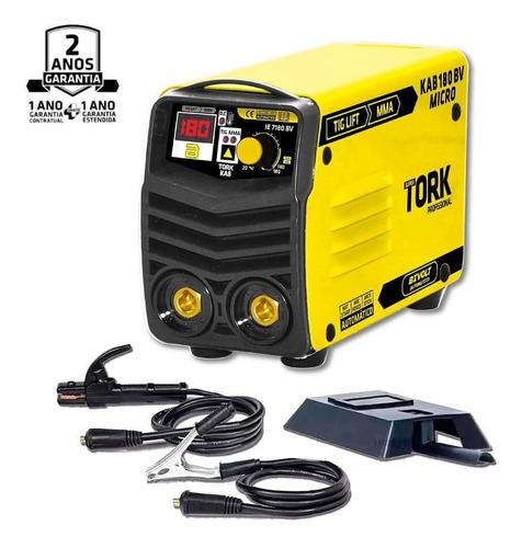Máquina Solda Inversora Bivolt Aut Kab 180 Micro Super Tork