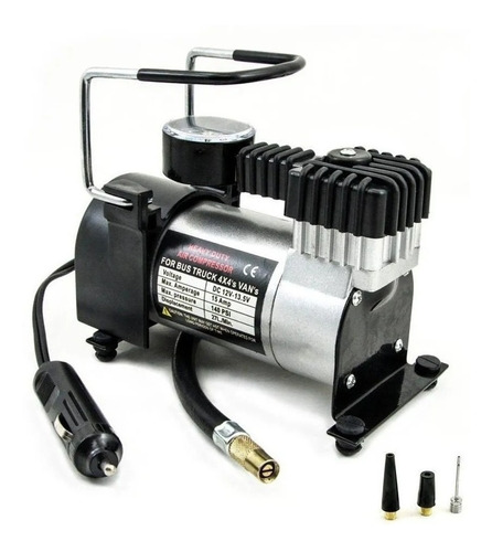 Mini Compressor De Ar 12v Portatil Pneu Carro Moto Promoção