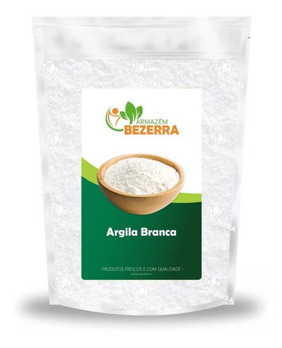 Argila Branca Clareadora 1kg - Natural Armazém Bezerra