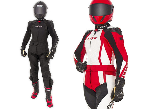 Macacão Feminino Couro Motociclista Texx Diana