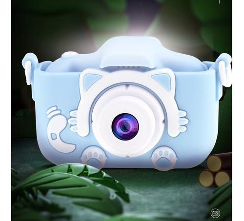 Câmera Infantil Mini Efeitos Fotos Voz Recarregável Com Capa