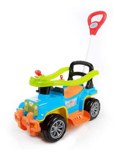 Carrinho De Passeio Bebê Jip Jip Colorido Com Empurrador
