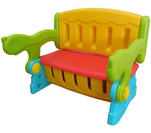 Mesinha Infantil Plástico 3 Em 1 Banco Baú Cadeira Diversão