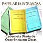 Caderneta Diário De Obra 25x3 Vias Autocopiativo