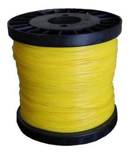 Fio Nylon Roçadeira Amarelo Quadrado Bob 2kg 3.0mm - Fuzil