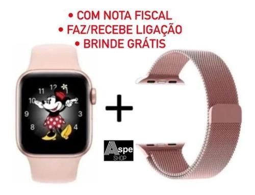 Relógio Smartwatch Iwo 12 Ld5 Rose Feminino Original Brinde