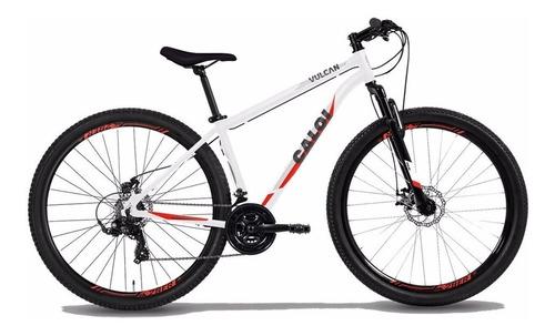 Bicicleta Mtb Caloi Vulcan Aro 29 - 21 Velocidades - Branco