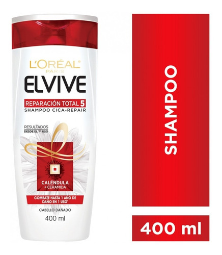 Shampoo Reparación Total 5 Elvive L´oréal Paris 400ml