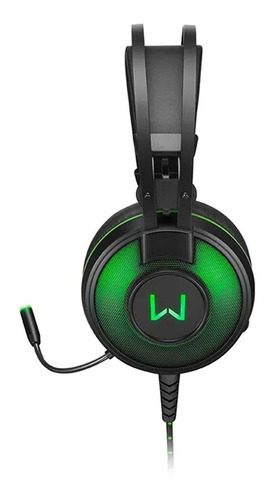 Headfone Headset Gamer 7.1 Usb Led Verde Warrior Raiko