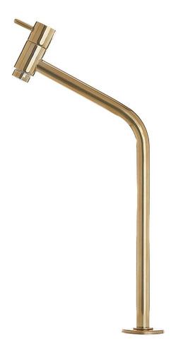Torneira P/lavatório Link Soft 45° 1/4 Volta Alta Dourada