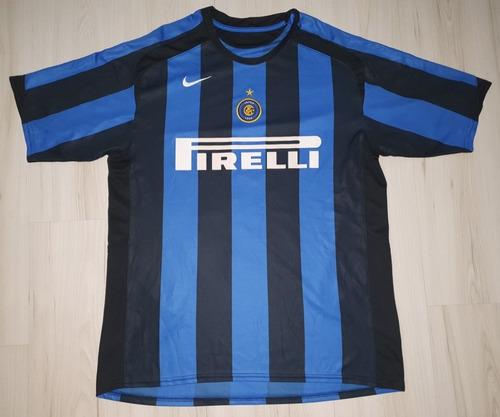 Camisa Do Inter De Milão 2005 Nike #10 Adriano Pirelli