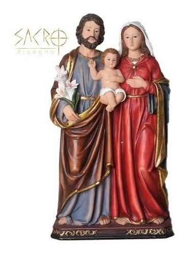 Imagem Sagrada Família Resina 30cm Importada