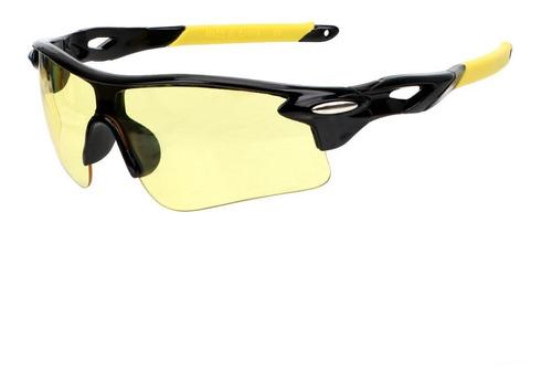 Óculos Bike Ciclismo Esportivo Lentes Amarelas Visão Noturna