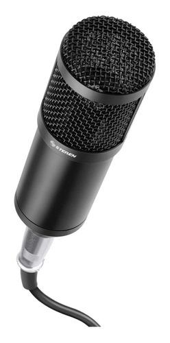 Micrófono Steren Mic-650 Condensador Unidireccional Negro