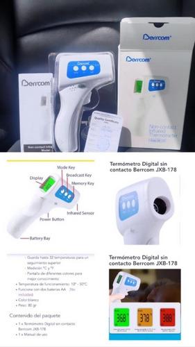 Termómetro Infrarrojo Digital Berrcom Certificado